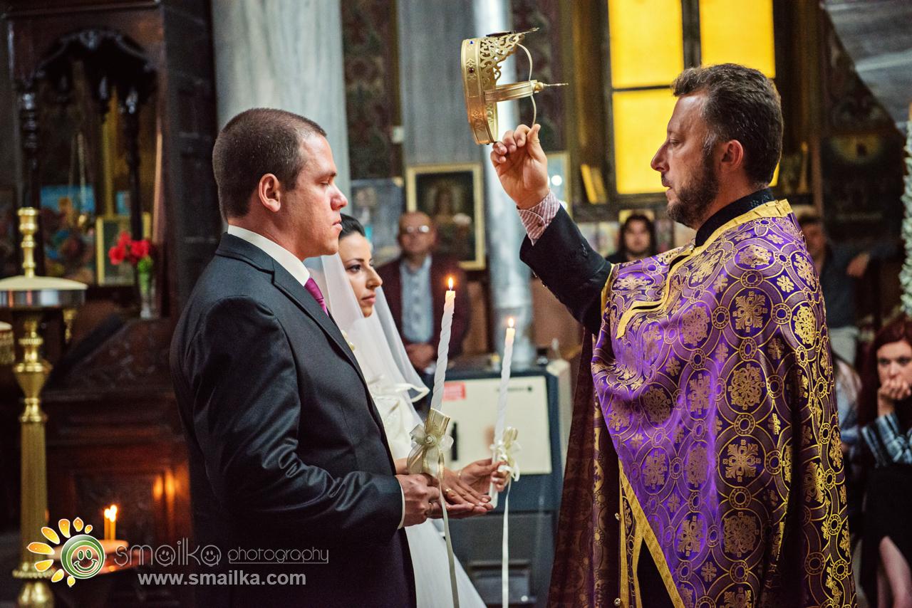 Orthodox wedding church ceremony