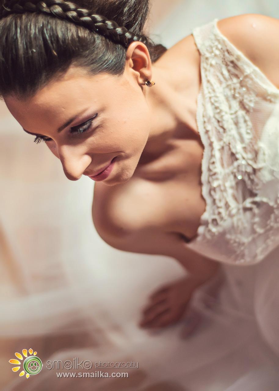 Bride preparation portrait