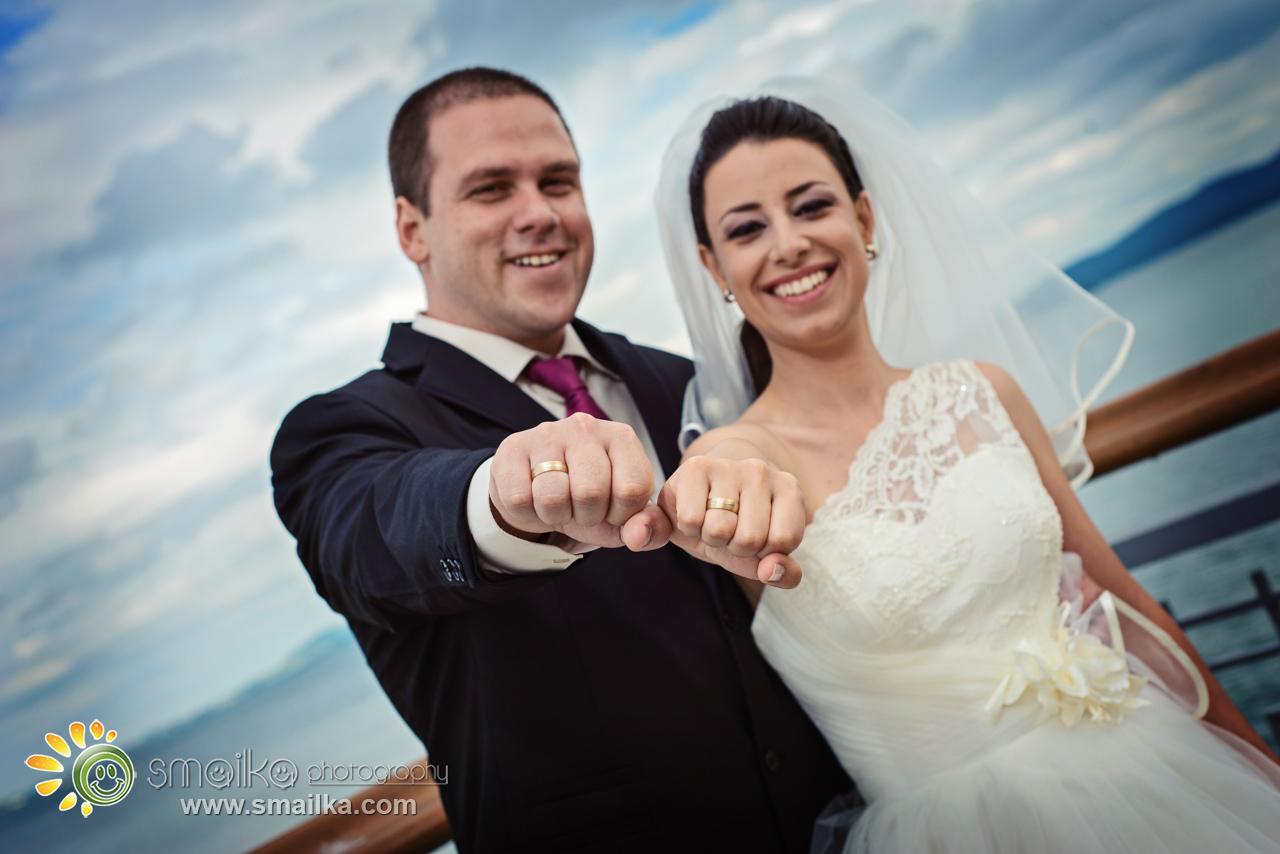 Wedding couple photo of the wedding rings