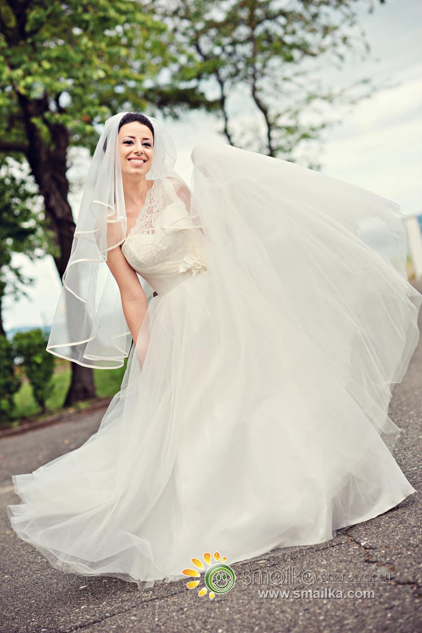 Wedding photosession bride wedding dress