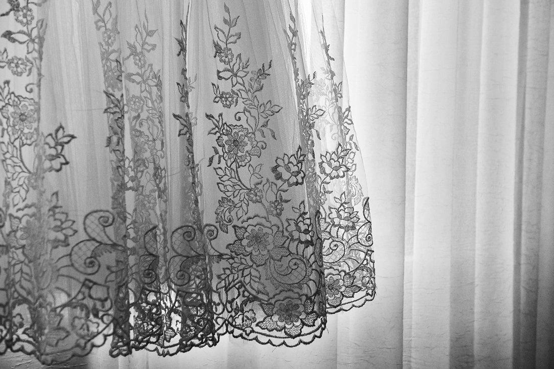 Wedding dress floral details
