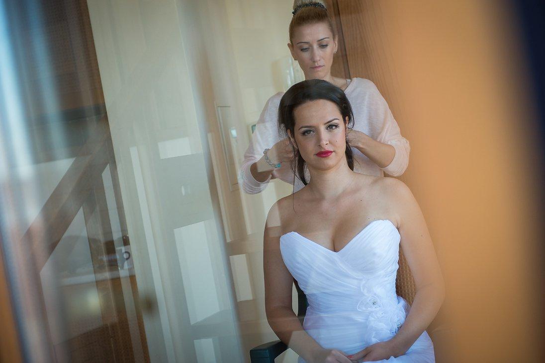 Bridal hair-style