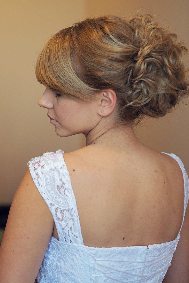 Bridal hair portrait