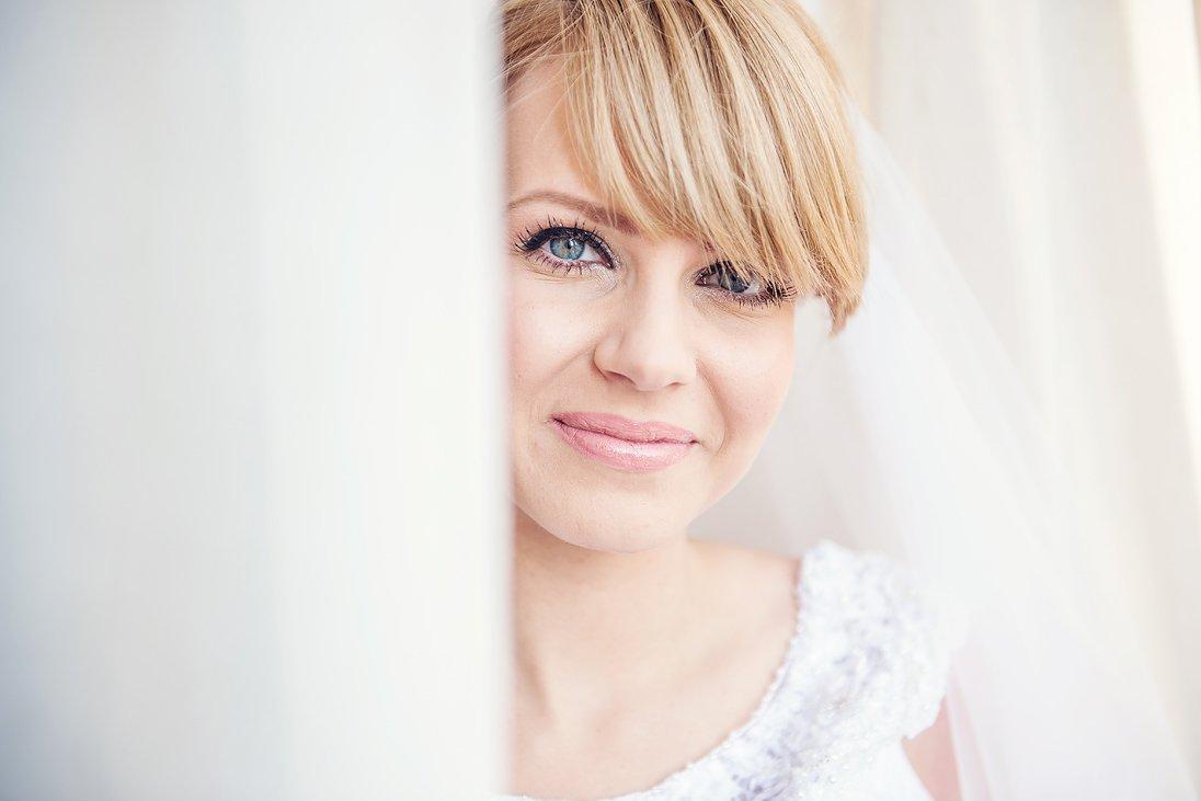 Bridal close-up portrait