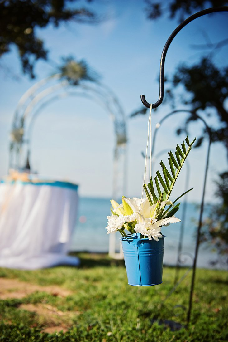 Wedding decoration on the beach