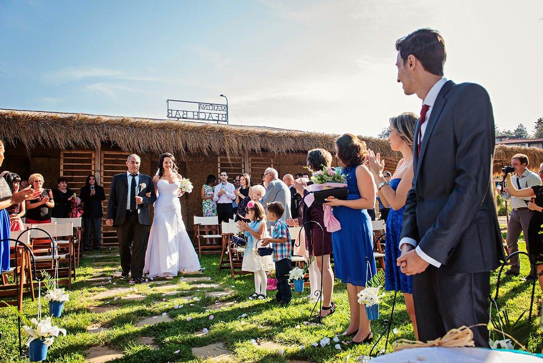 Bride enters the wedding ritual scene