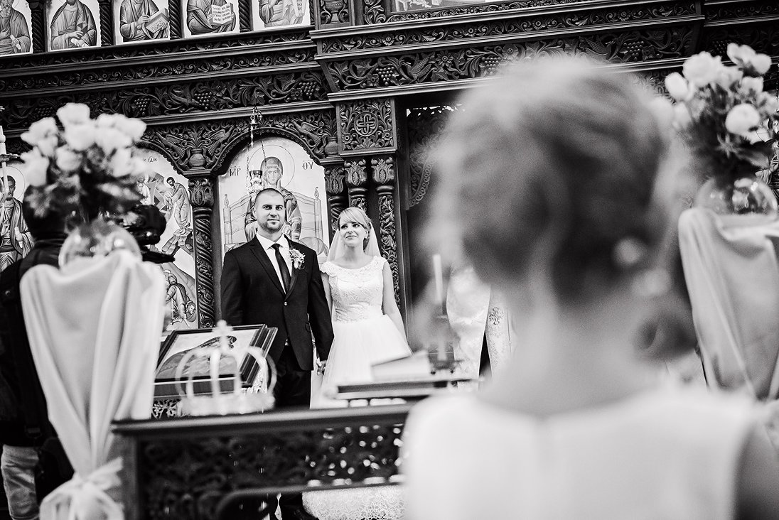 A photo of a church wedding ritual in Plovdiv