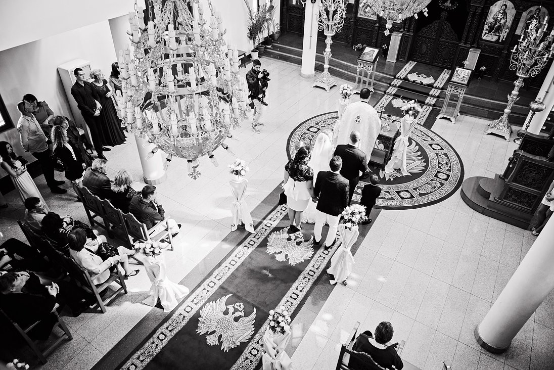 Wedding ritual in a church in Plovdiv