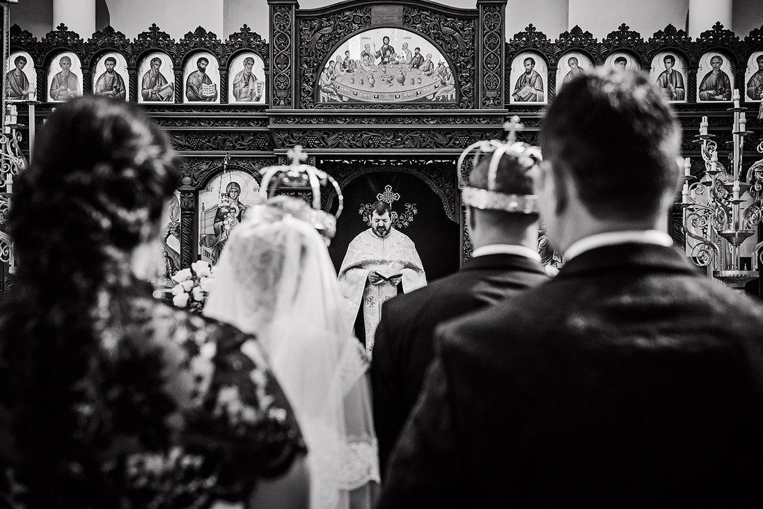 Church wedding ritual in Plovdiv