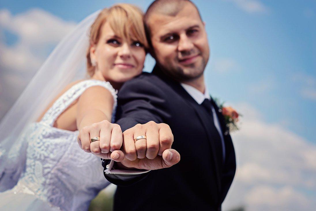Wedding rings close-up photo
