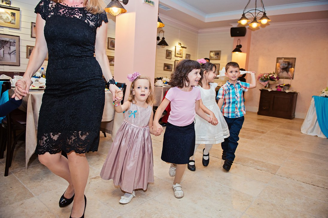 Children dancing on the wedding party