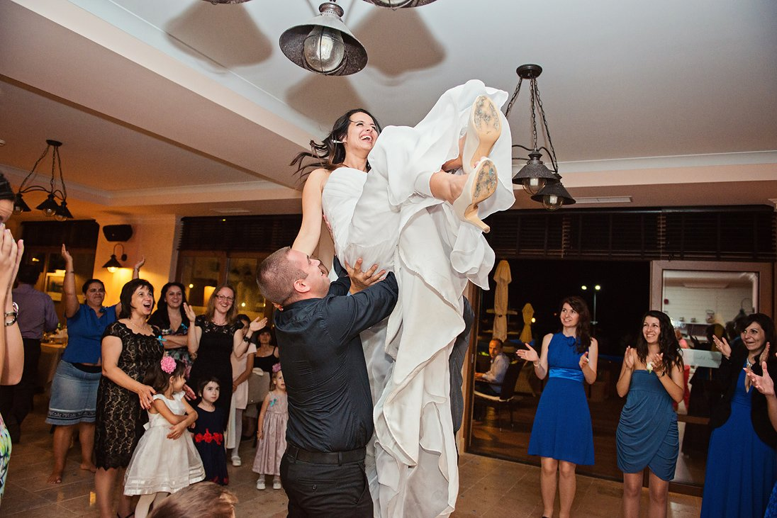 Tossing the happy bride destination wedding in Bulgaria