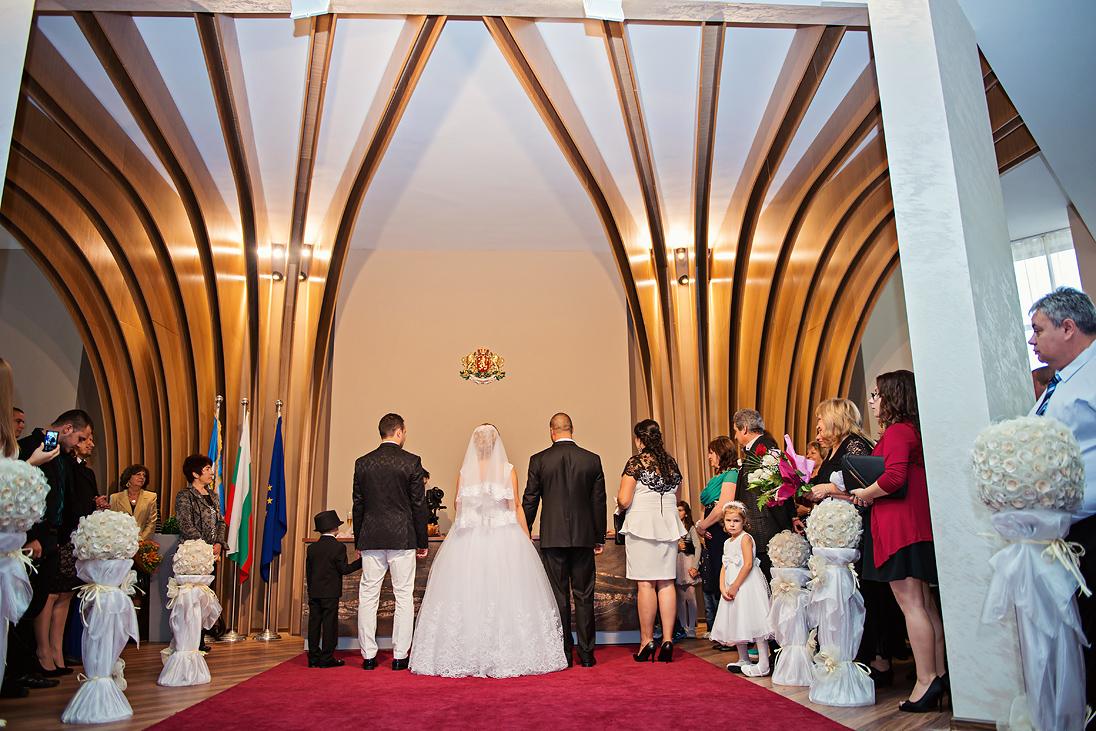 Civil ritual wedding in Plovdiv