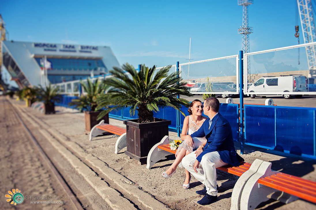 Wedding photo session on the sea Burgas
