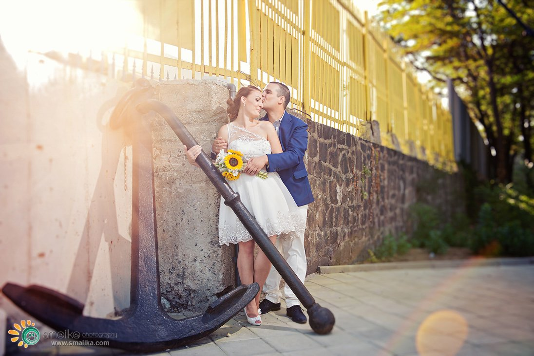 Wedding photosession in Burgas reflections