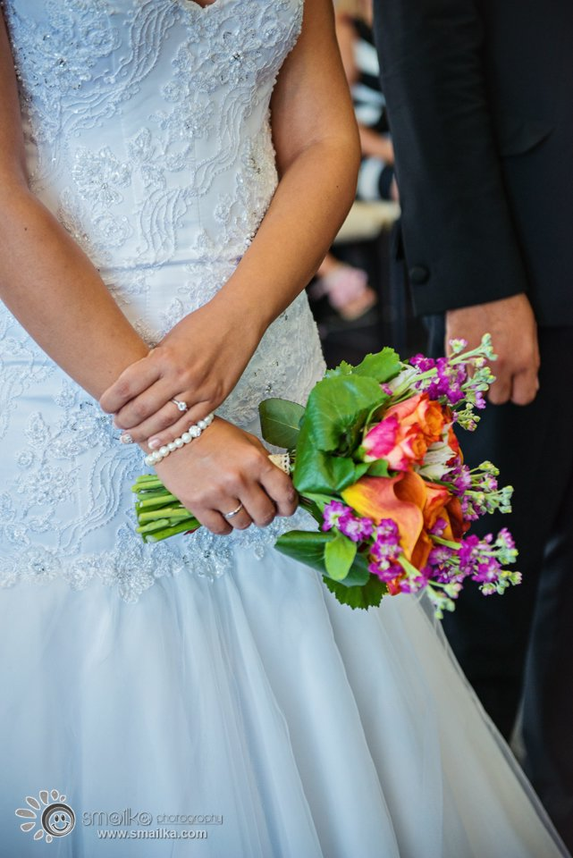Wedding photography - A bride holding her bouquet