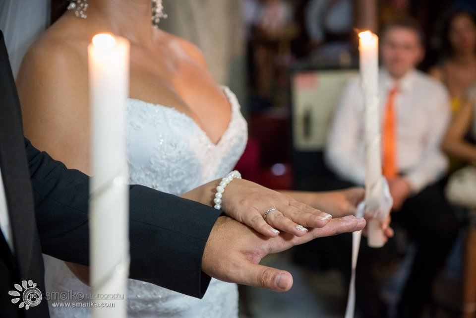 Milena Nikolay church ceremony photography couple holding hands