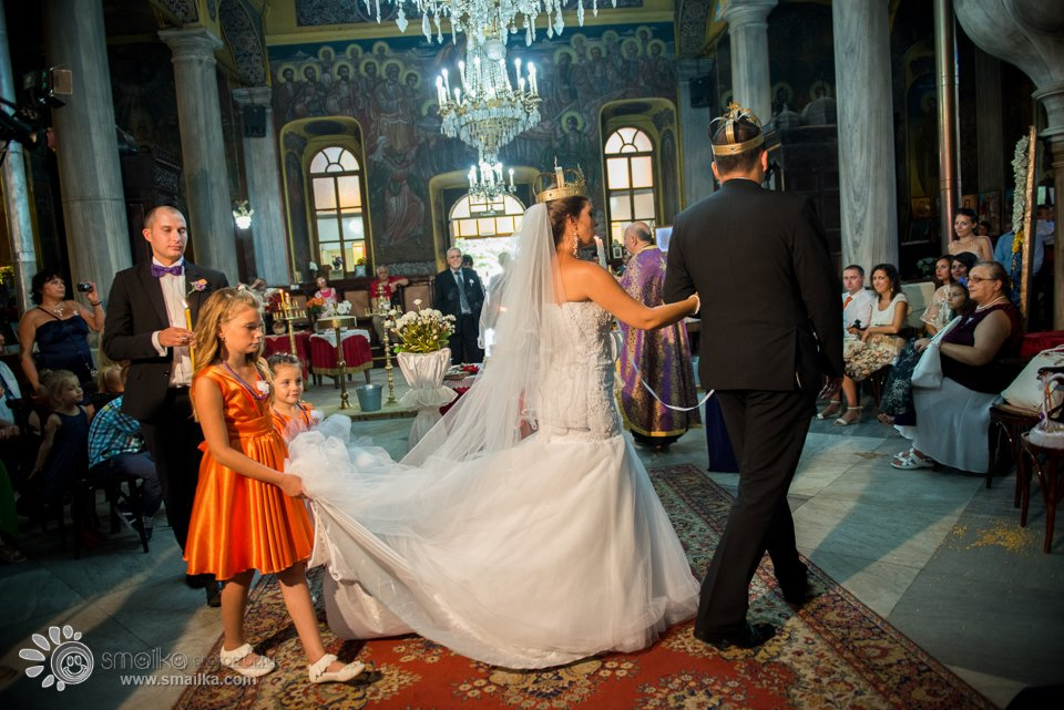 Milena Nikolay church ceremony photography