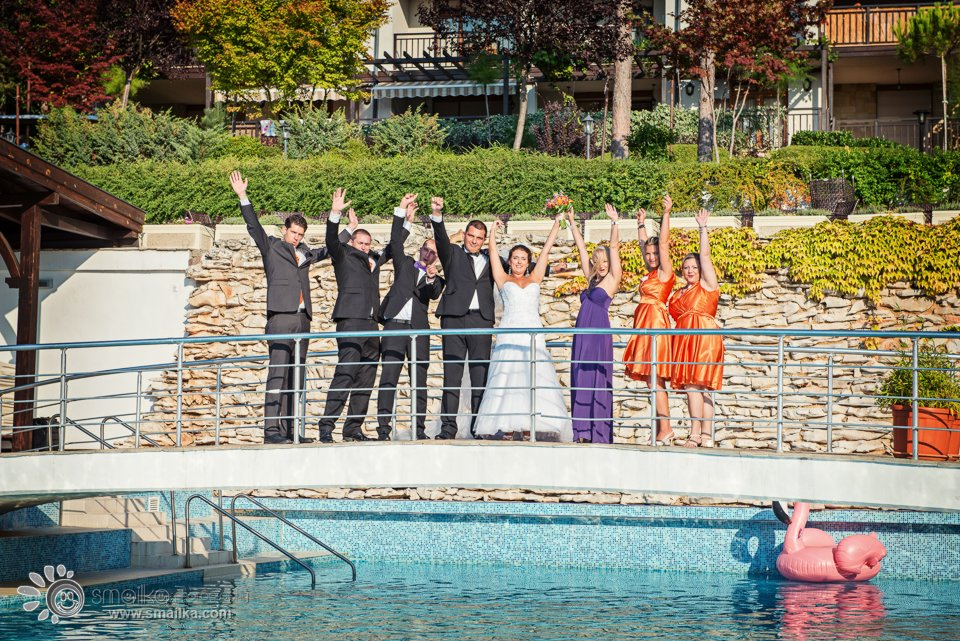 Wedding photography bride and bridesmaids groom and bestmen