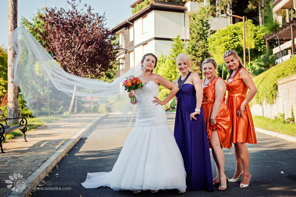 Wedding photography bride and bridesmaid