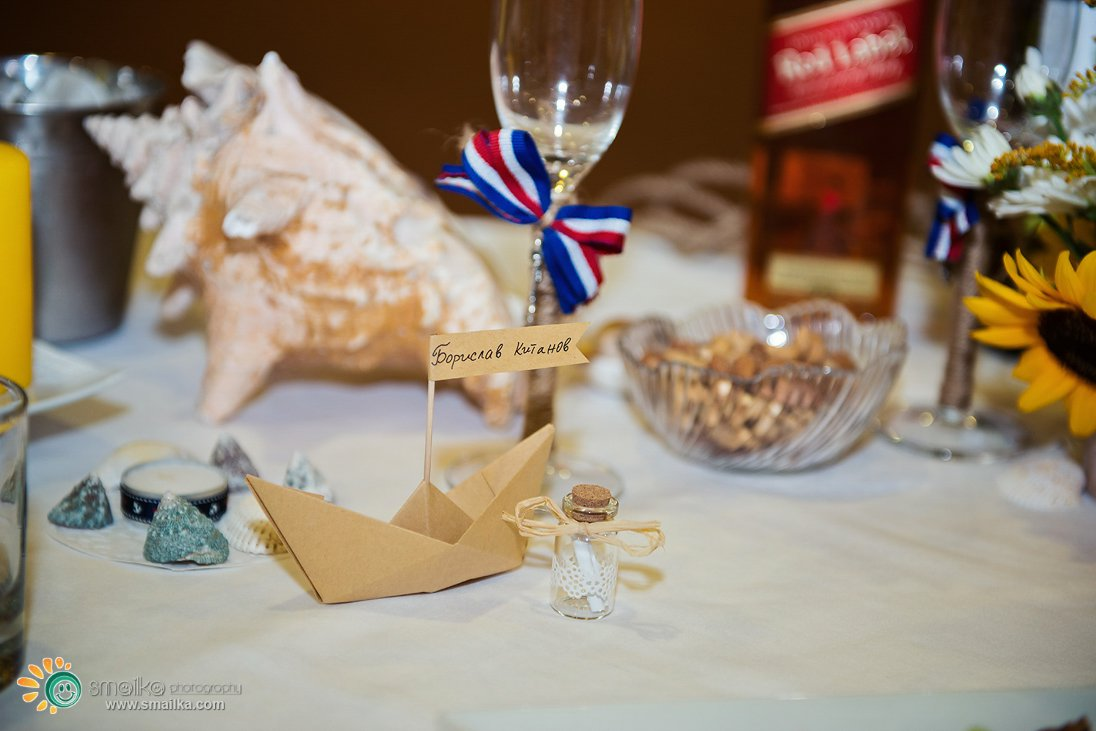 Wedding decorations paper boats