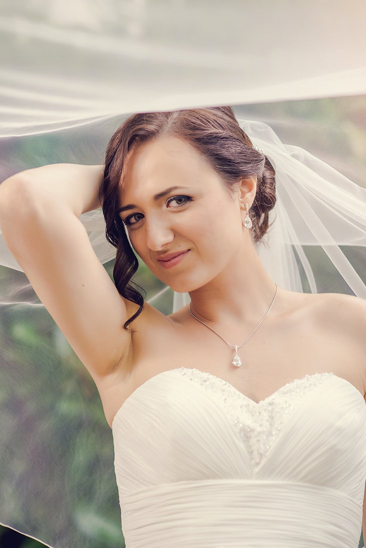 Bride close-up portrait
