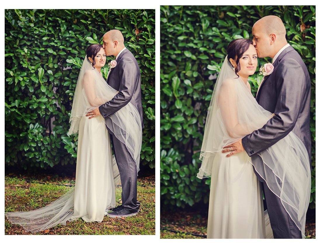 Romantic wedding photo session in the park