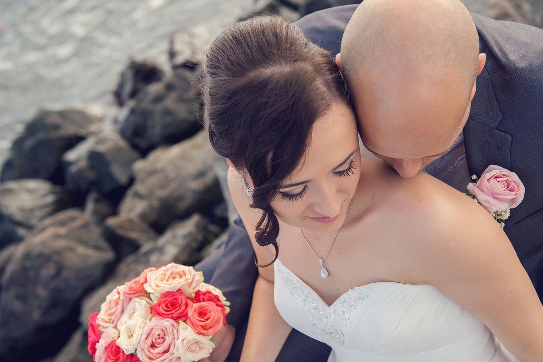 Wedding couple gentle portrait