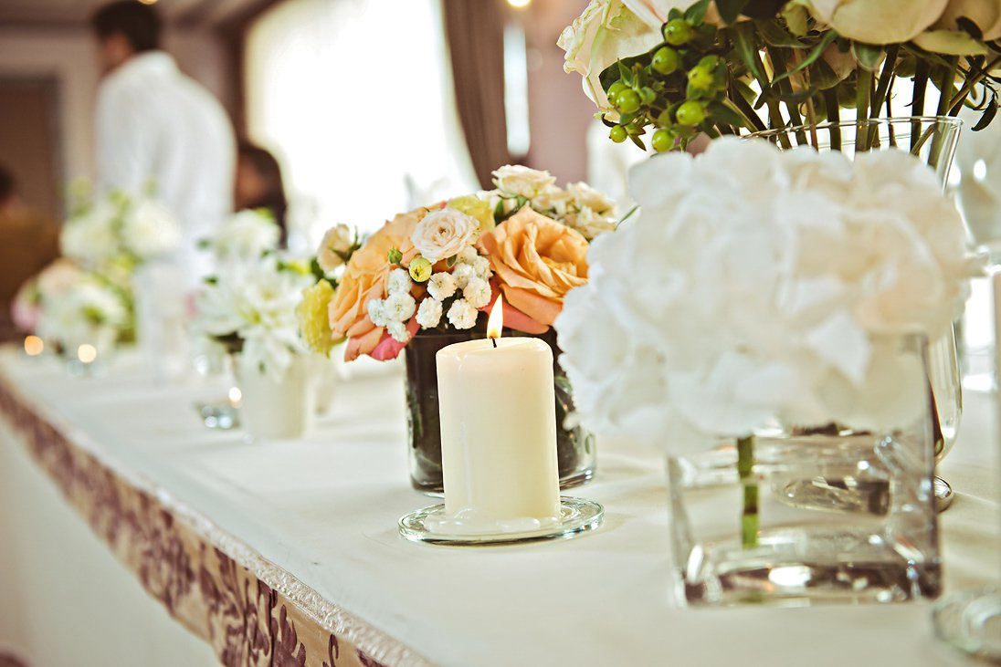 Wedding reception decorations and details candles