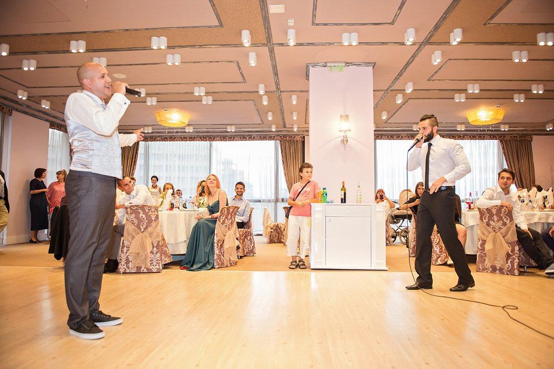Wedding reception singing