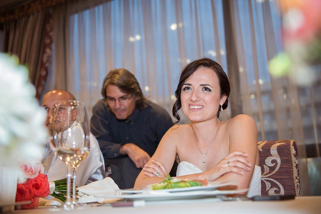 Kalina the bride smiling