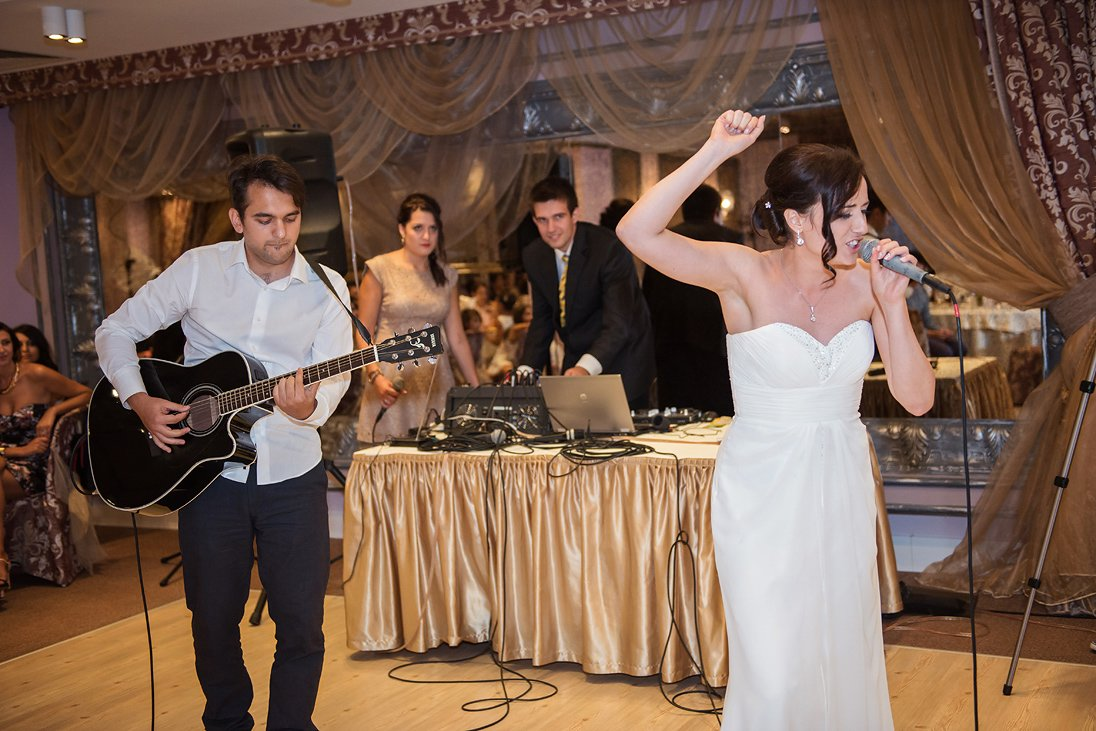 Bride sings and dances on her wedding