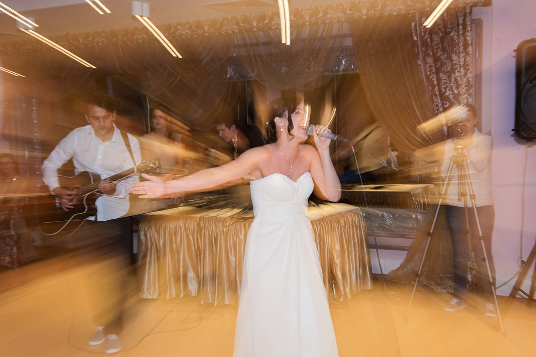 Bride goes forward in time