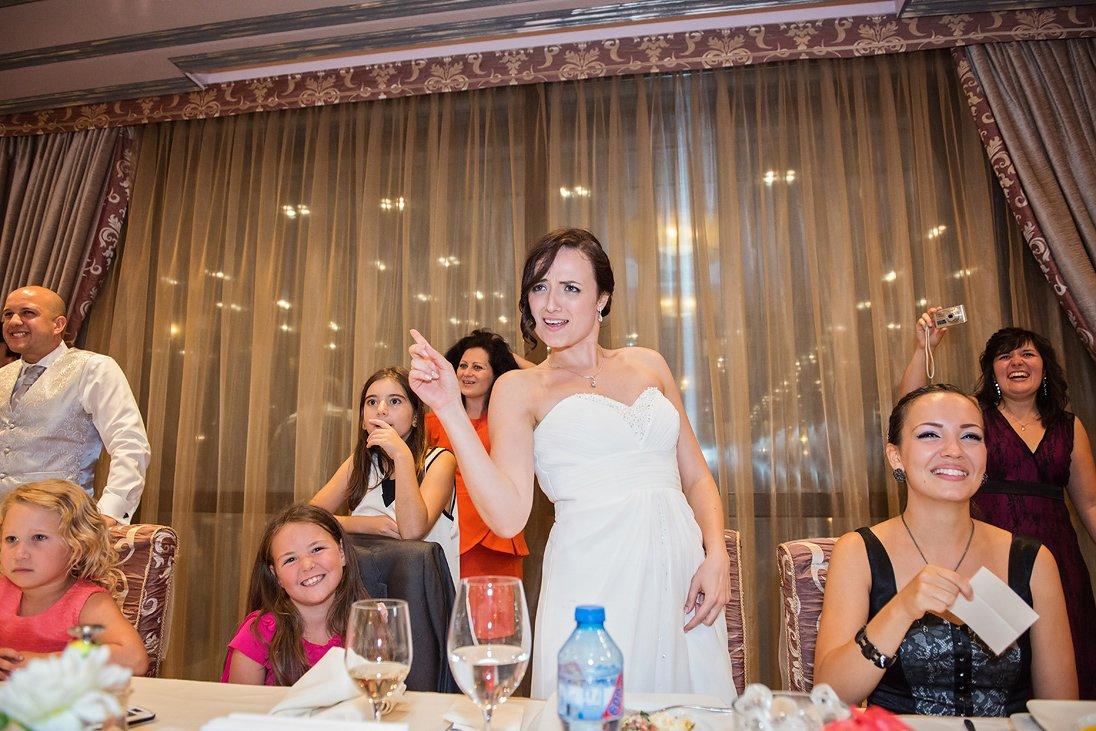 Wedding celebration bride dancing
