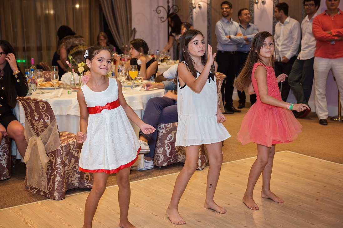 Wedding celebration kids dancing