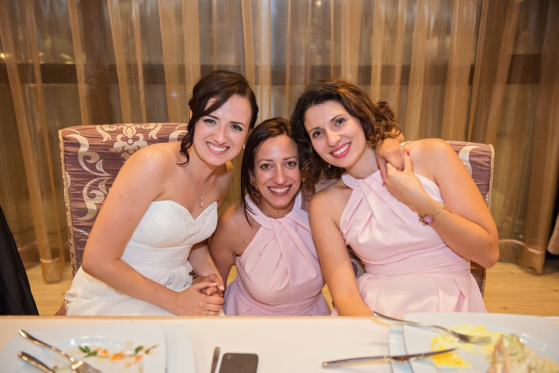 Bride and maid of honors