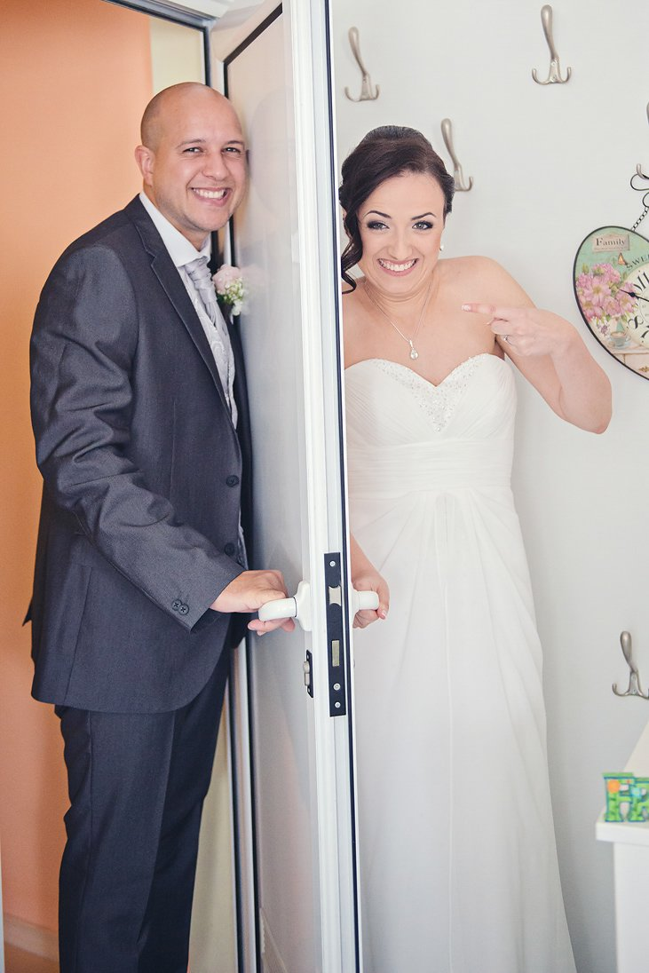 Bride is hiding from the groom