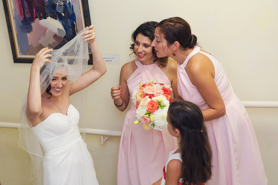 Bride and maids of honor