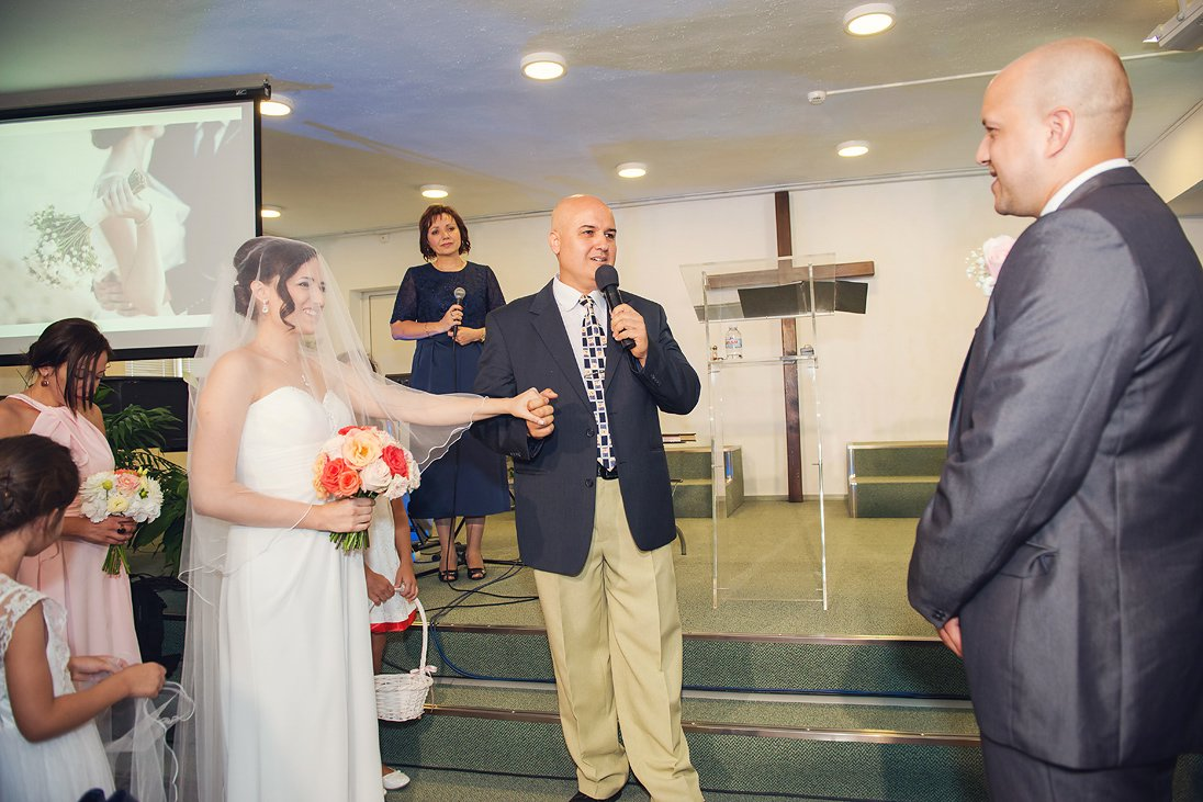 Church wedding ceremony in Burgas