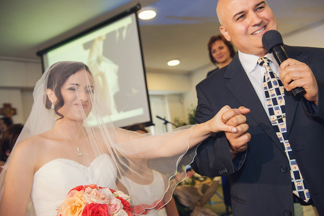 Father is giving her daughter as a bride