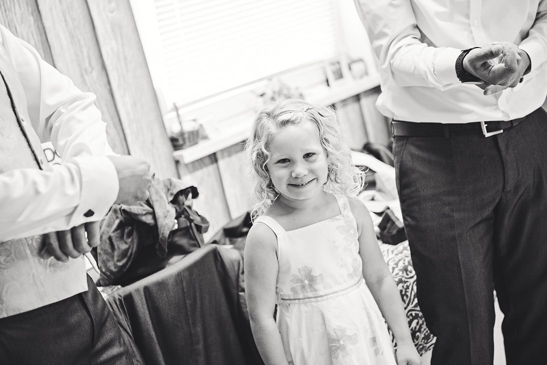 Happy child on a wedding