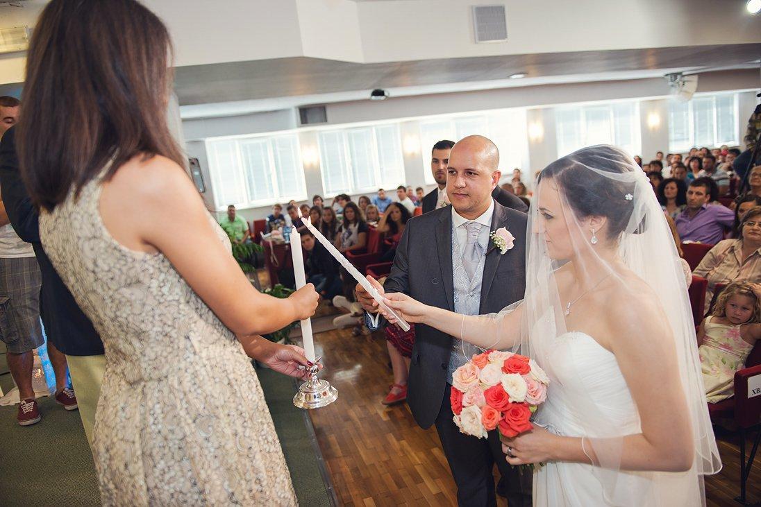 Lighting the wedding candles