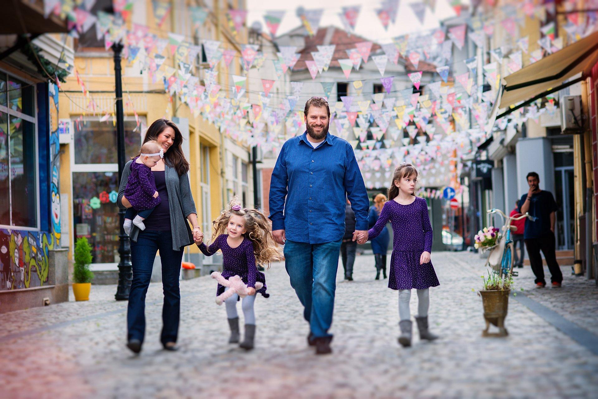Семейна лайфстайл фотосесия в Капана, Пловдив