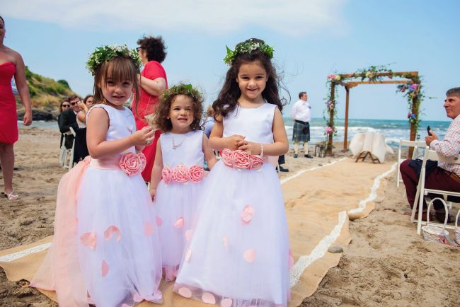 Beach Wedding Reception Little Maids