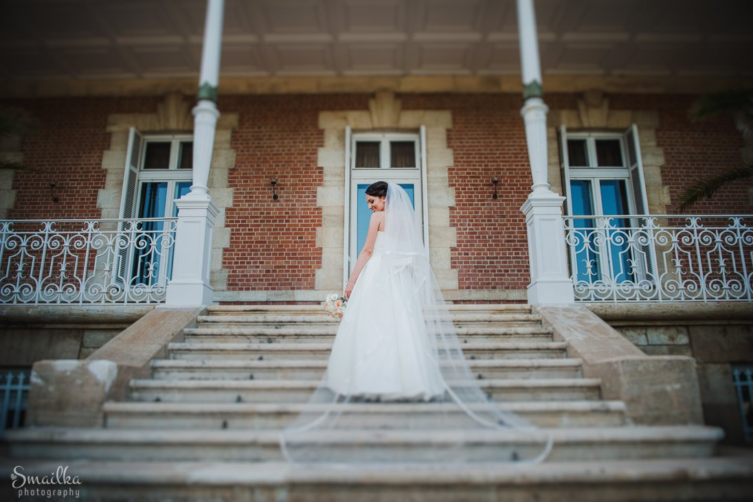 Wedding photosession at Euxinograd palace Bride and Veil