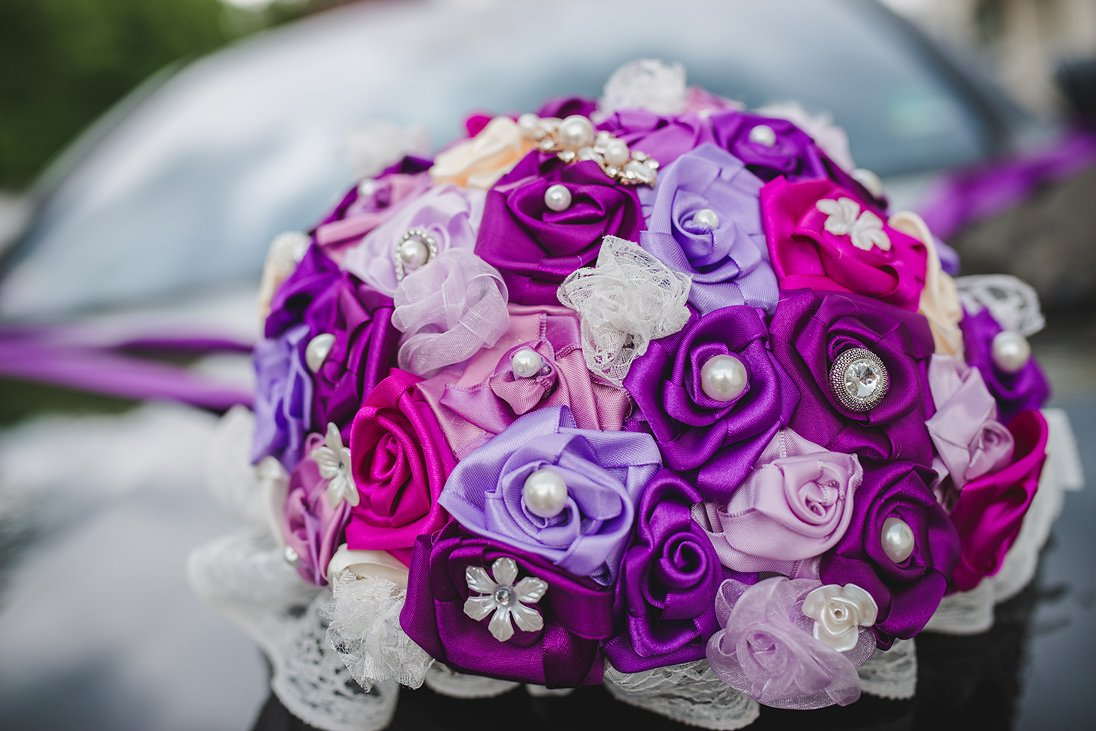 Wedding bouquet of paper flowers