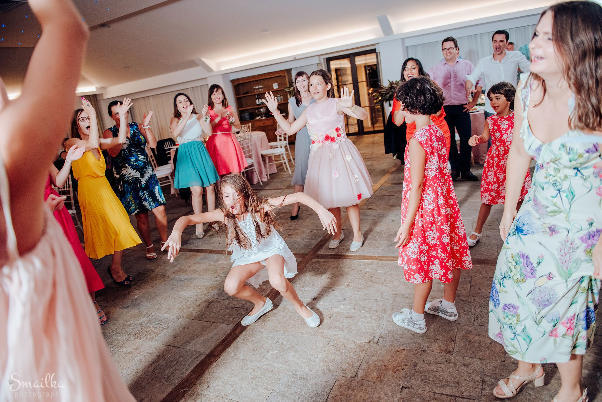 Children dancing at wedding at Black Sea Rama