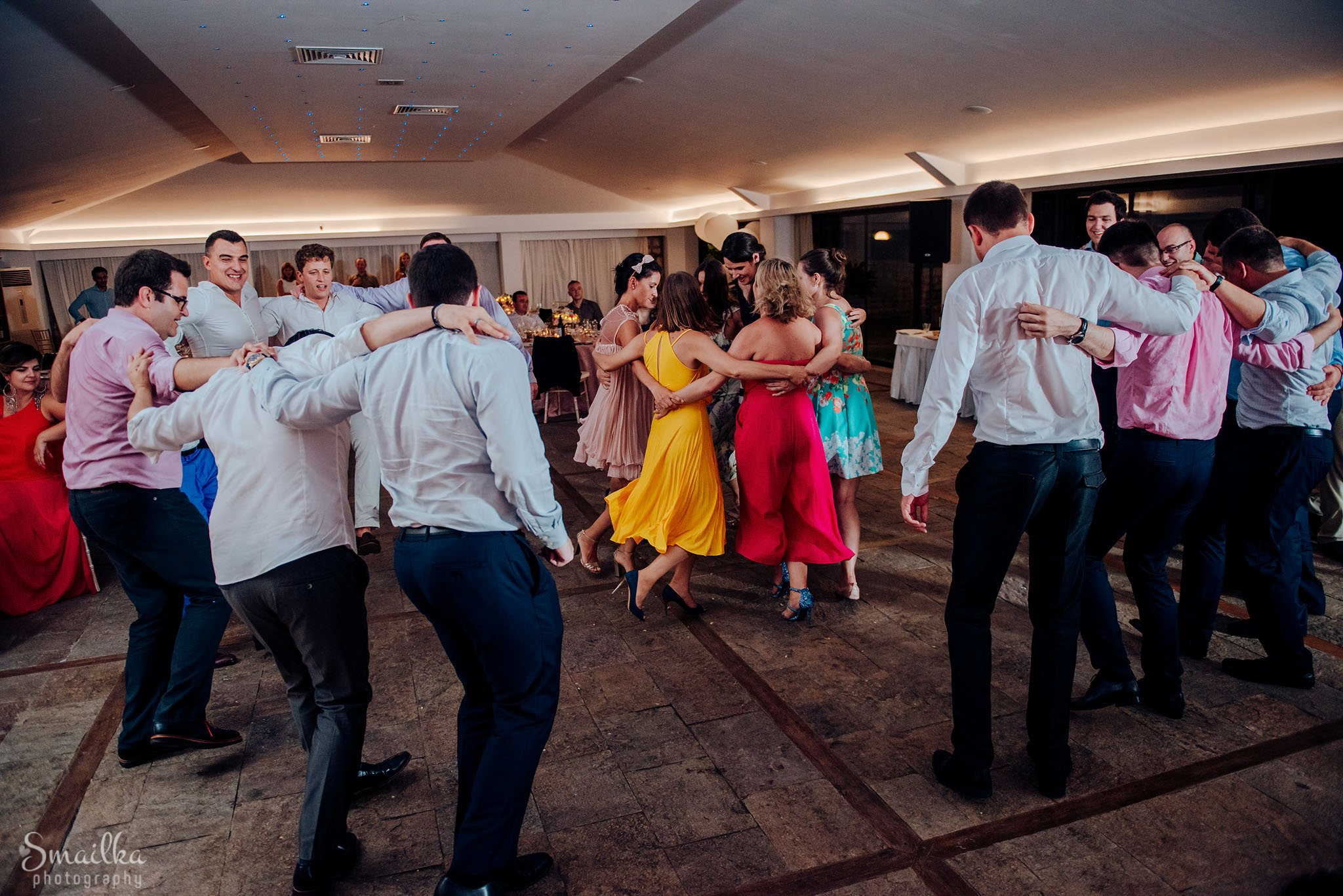 Group dancing at a wedding at Black Sea Rama