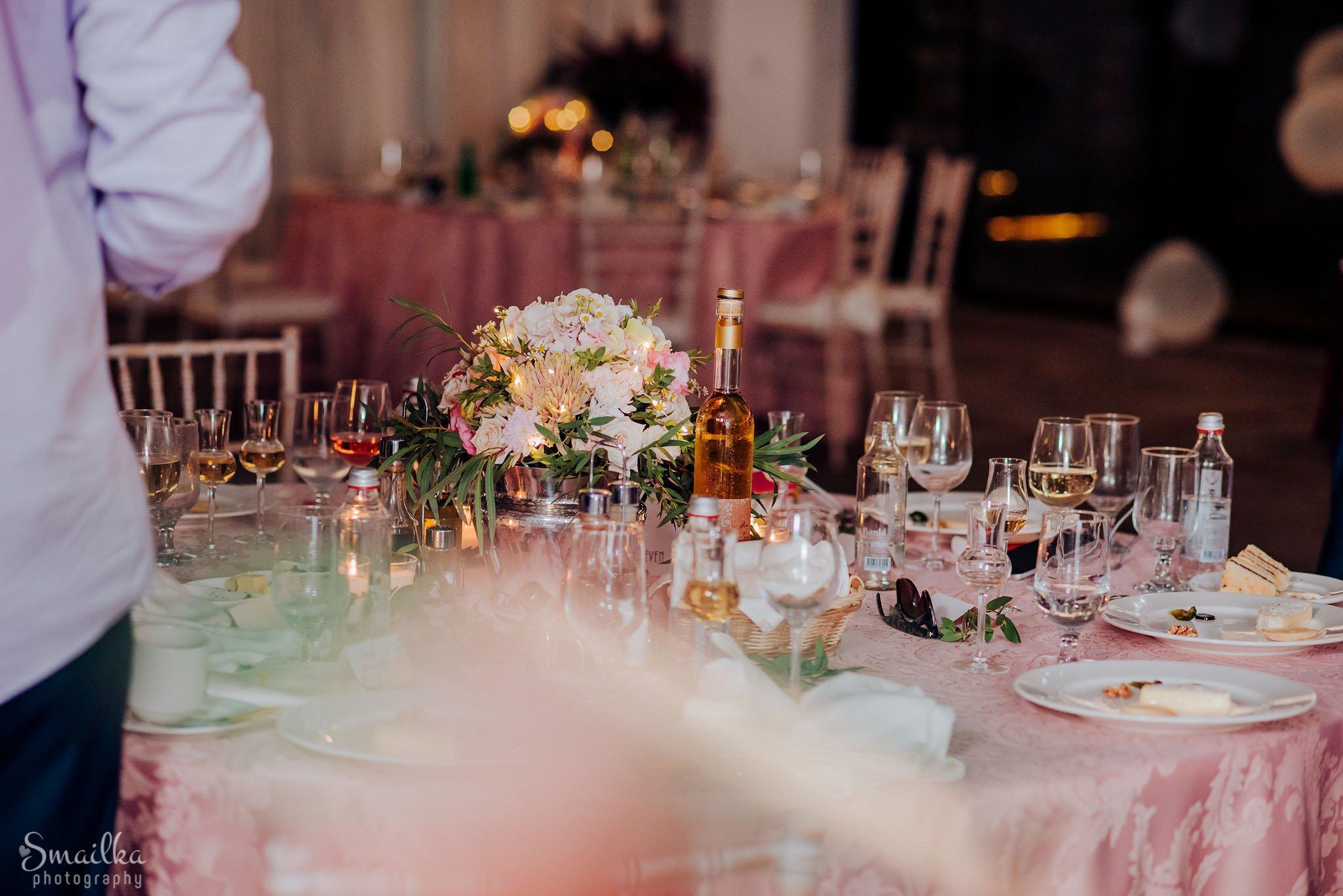 Wedding celebration food and drinks at Black Sea Rama