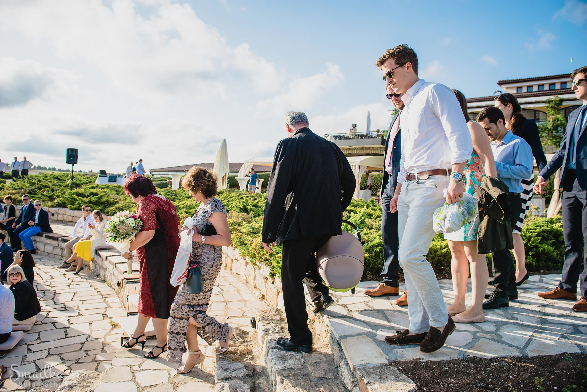 Wedding guests at Black Sea Rama